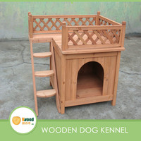 Wooden Balcony View Dog House
