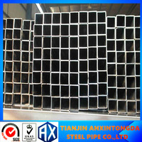 25X25 ms square hollow section pipe sizes/black carbon steel scaffolding pipe/factory supply