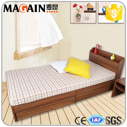 Modern bedroom furniture Japanese style MDF Single Bed