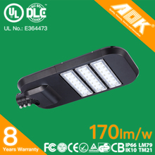 Factory price high lumen outdoor IP66 170lm/w 8 years warranty UL 120w LED street light