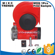 12V Air Horn Siren Speaker Comes With Air Pump Super Loud Auto Horn Whistle Snail Horn For Truck Car