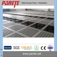 Ventilation steel raised floor system in data server room