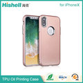 Full Body Protective Oil Painting Phone Case OEM TPU Rubber Mobile Covers for iphoneX