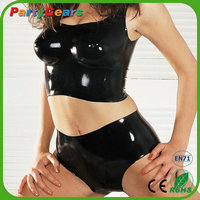 Alibaba China Supplier Cheap Women Sight Sexy Latex Transparent Catsuit Adult Rubber Pants Catsuit Girl