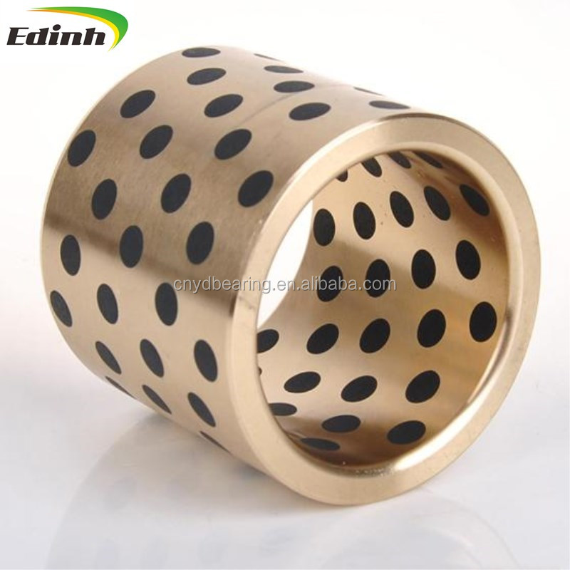 oil graphite impregnated self lubricating sintered metric brass bronze bushing bushings