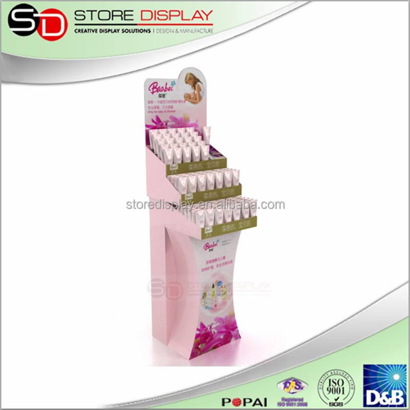 Cardboard Dump Bin/ chocolate cardboard display stand dump bin, cosmetic display stand, baby bath and body product display