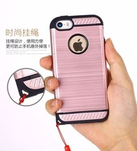 shockproof brushed pc tpu armor phone case for iphone 5 , hard mobile cover for iphone 5 5s 5se