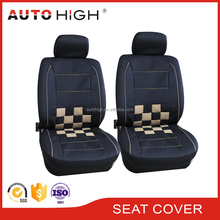 Black leather car seat cover for cars