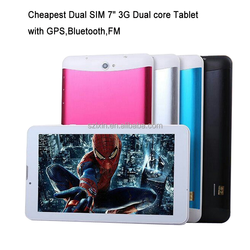 7 inch dual core 3G Tablet pc Sim card 3g dual sim phones video call tablet pc