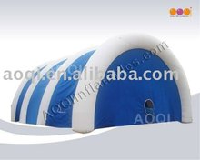AOQI hot selling blue white inflatable lawn tent for big event