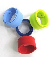 New Yipin Silicone Manufacturer Custom Design Slap Wristbands All Colors Silicone Slap Bracelet
