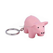 Factory hot sale keychain custom pig keychain stress ball