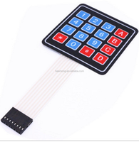 Best Price High quality 4 x 3 Matrix Keypad Membrane Switch 12 Buttons Control Panel with Single-Chip Expansion Keypad