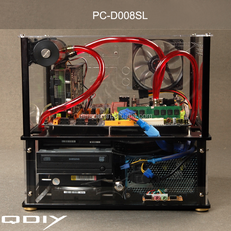PC-D008SL Horizontal E-ATX Motherboard New Water Cooled Deluxe Computer Case