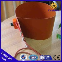 110v 230v explosion proof silicone rubber heater with adjustable thermostat