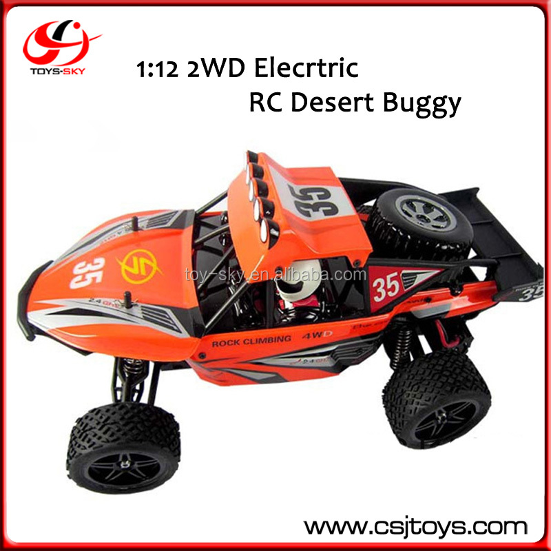 1:12 40km/h High Speed Truck 2WD Desert Buggy Cross Country Racing Car 2.4G Elecrtric RC Car With Blast PVC Shell