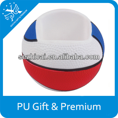 Company logos innovative promotional gifts squeeze ball basketball mobile phone holder