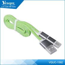 Veaqee mobile phone 2 in 1 flat usb charging cable for phones and tablets