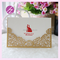 QJ-89 Best sell arabic wedding invitation cards freshers party invitation cards