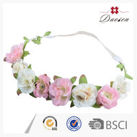 Colorful Light Fabric Flower Hair Net Headband