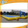 Good quality funny inflatable soap football pitch inflatable soccer field water