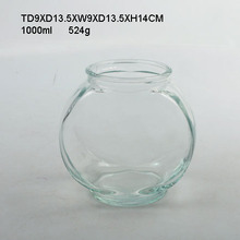 1000ml Large Round Clear Fish Tank