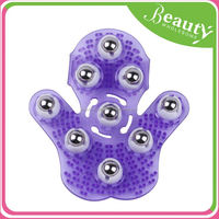 hand held body massager ,SY081 roller rolling joint massage gloves/massage brush
