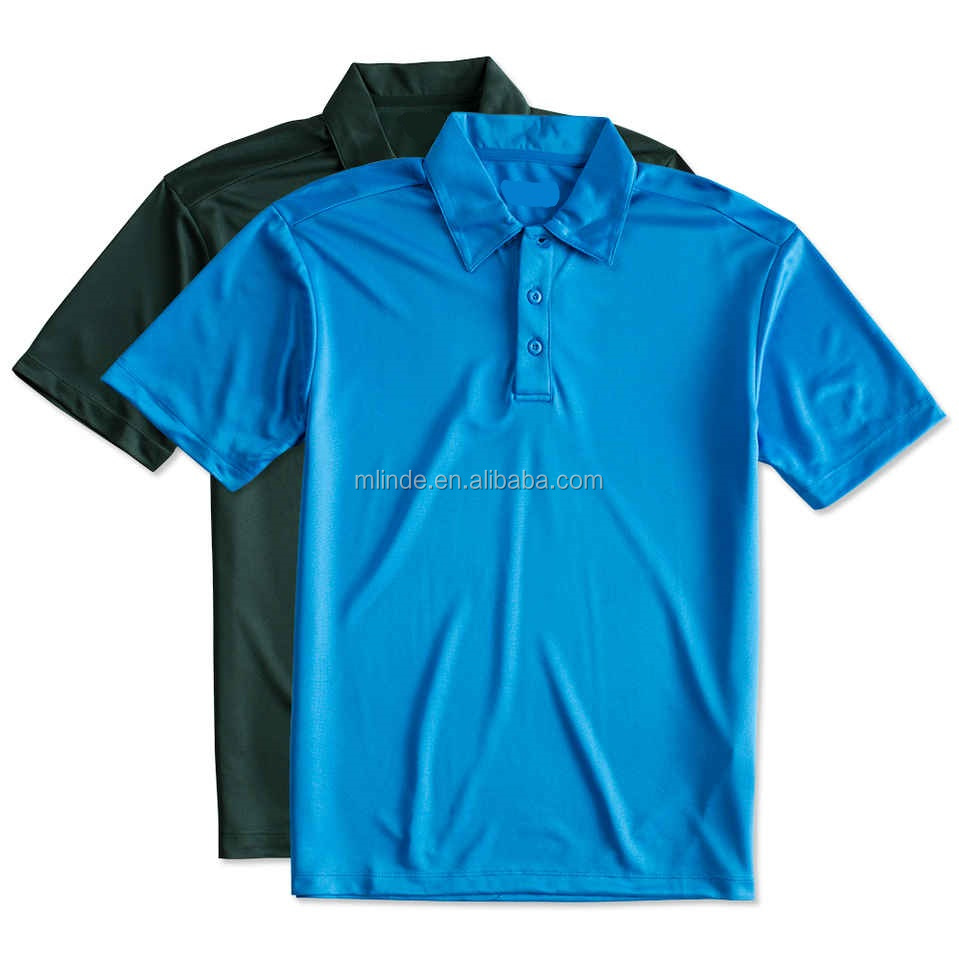 Men's Golf Shirt Fabric T Shirt Polo Silk Touch 100 Polyester Polo Shirts Wholesale With 3 Button Placket