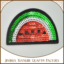 Good price watermelon pattern embroidery sequin patches for garment