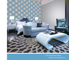 2014 new design embroidery wallpaper special wallpaper designs for bedrooms/ high quality non woven wallpaper
