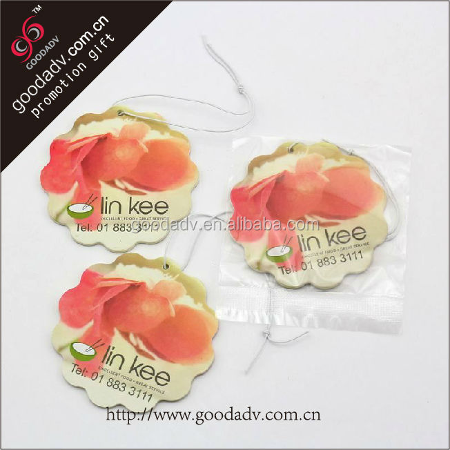Popular sales Customized client first car air freshener poppy / flower shape air freshener
