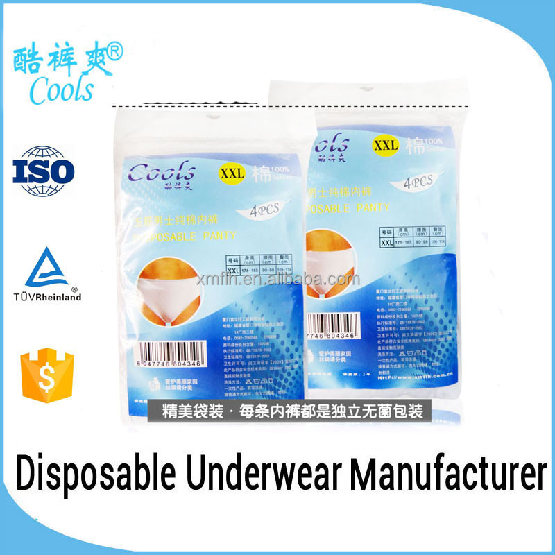 Hot Selling Disposable Cotton Men Panties For One Off