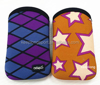 neoprene cell phone pouch bag, soft inner, custom printing and logo, free samples