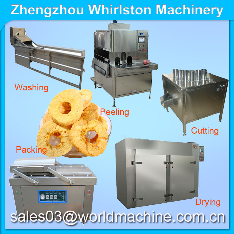 apple/kiwi fruit/plantain slicer/non-fried dried plantain chips making machine