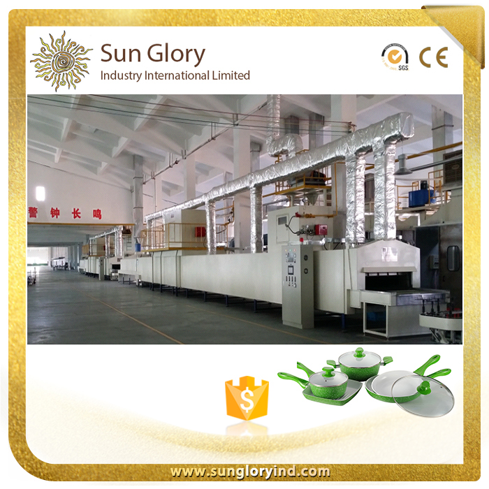 Cookware production line ceramic coating machine