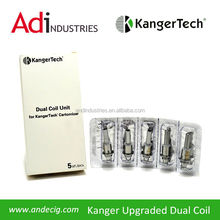 Kanger Tech Cartomizer Dual Coil Unit. 1 Pack x 5pcs. Compatible with: Aerotank, Aerotank Mini,Aerotank Mega,Protank 3, etc.