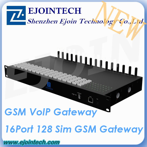 12 Months Warranty ! ! Ejoin New GoIP 16 port 128sim voip GSM gateway huawei e960 hsdpa wireless gateway