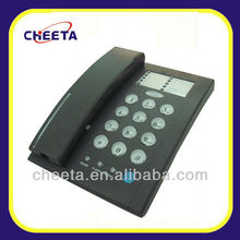dark gray telephone with contact phone number