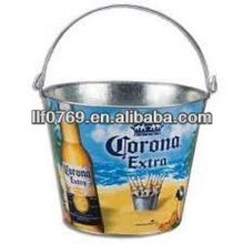 5qt Beer Bucket Custom Beer Bucket Galvanized Metal Bucket
