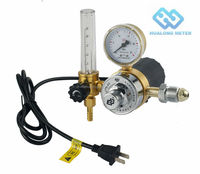 Co2 regulator electrically heated regulator flowmeter for co2
