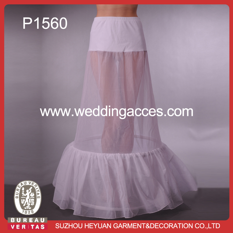 P1560-5 Wholesale Sexy Wedding Fishtail Petticoat for Bridal