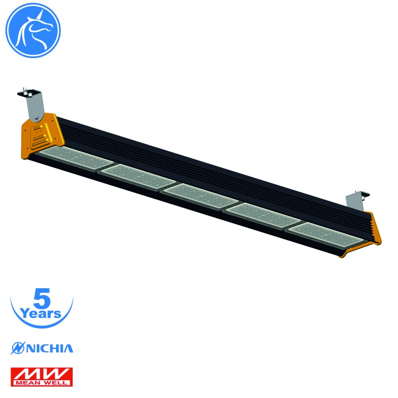 Warehouse industrial lighting item 240w 5 modules with meanwell driver 5years warranty led linear highbay