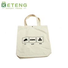 Wholesale thick material foldable waxed plain canvas tote bag