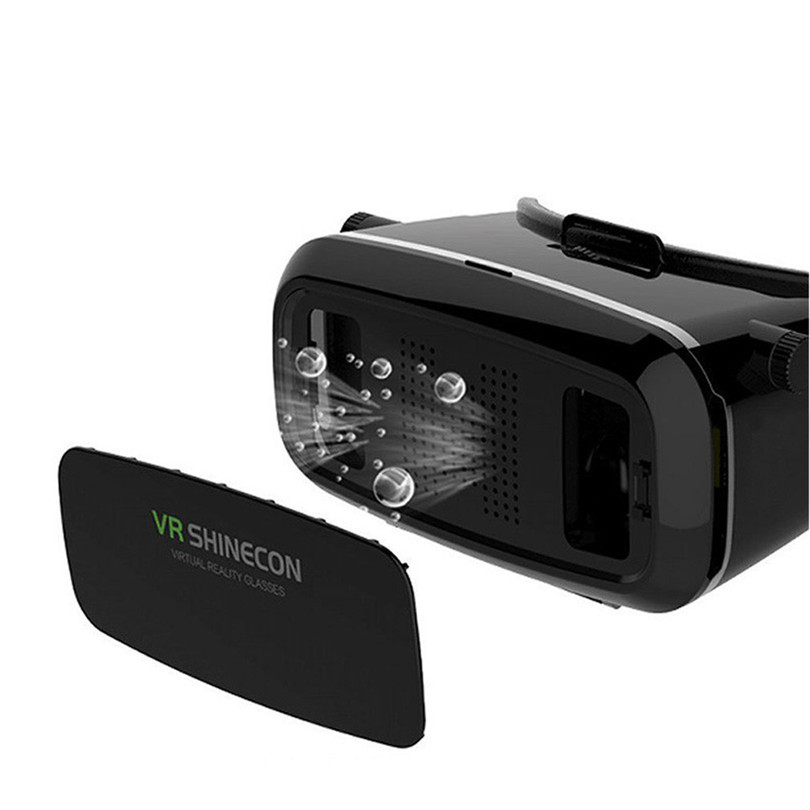 IOS Android VR Shinecon 3D Glasses active Version VR BOX Virtual Reality Google Cardboard RITECH II Movies