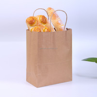 china supplier high qualith cheap brown kraft paper bags with handles