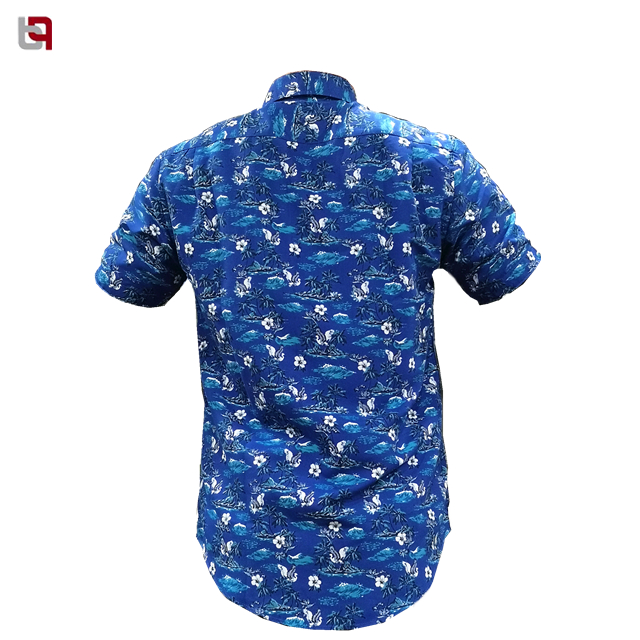 Micro Fiber 100% Poly Mens Woven  Shirt Short Sleeve Wholesale