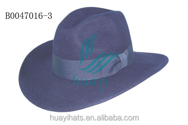 Purple wool felt cowboy hat
