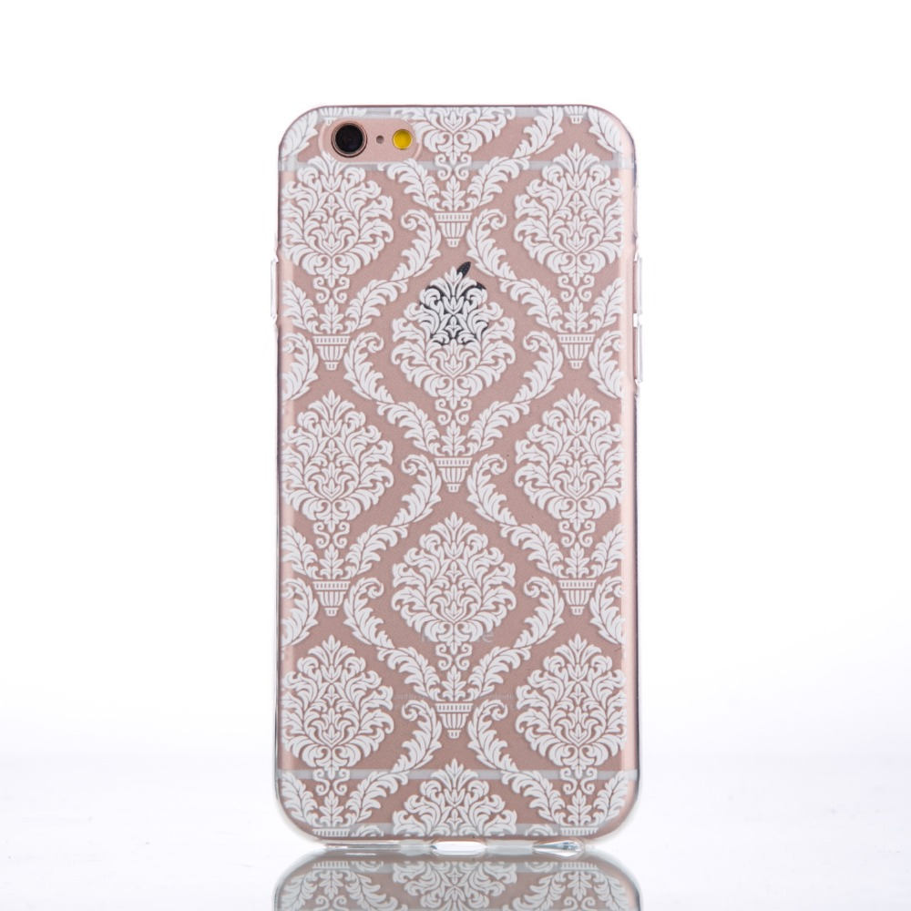 Emboss Clear Soft TPU PC Case For Iphone5