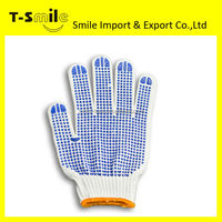 cheap cotton work gloves with rubber grip dots