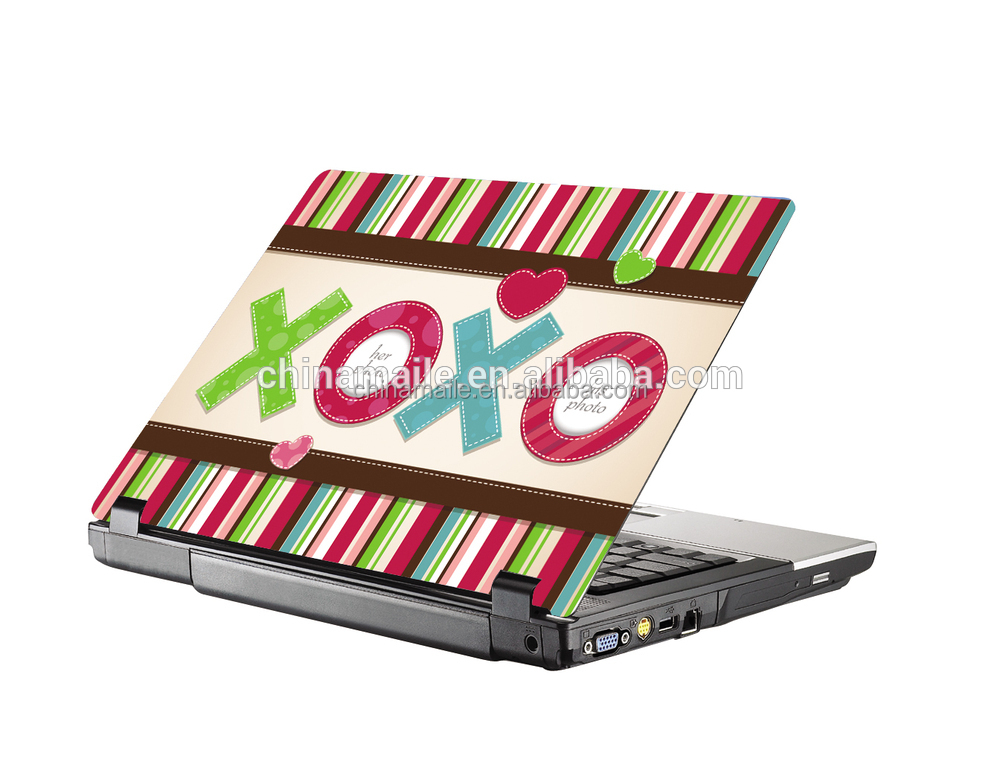 decorative sticker for macbook/customized shape decal sticker cover for macbook